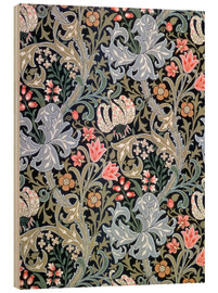 Hout print  Golden Lily - William Morris