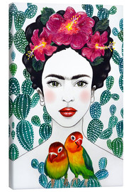 Canvas print  Frida's dwergpapegaaien - Mandy Reinmuth