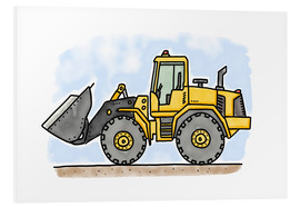 PVC print  Hugos wheel loader - Hugos Illustrations