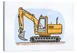 Canvas print  Hugos digger - Hugos Illustrations