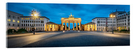 Acrylglas print  The Brandenburg Gate at night, Berlin, Germany - Jan Christopher Becke
