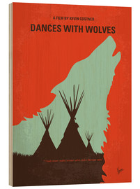 Hout print  Dances with Wolves - chungkong