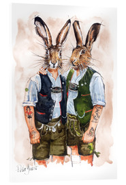 Acrylglas print  Gay Rabbits - Peter Guest