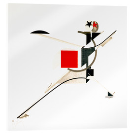 Acrylglas print  the new man - El Lissitzky