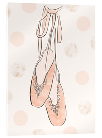 Acrylglas print  Ballet shoes on the wall