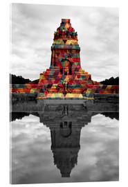Acrylglas print  Monument to the battle of the nations Colour Pop