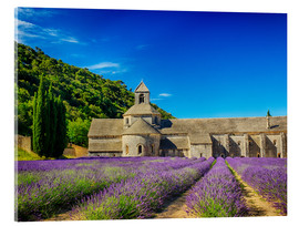 Acrylglas print  Monastery with lavender field - Terry Eggers