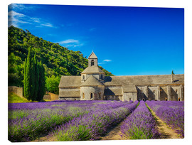 Canvas print  Monastery with lavender field - Terry Eggers