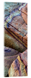 Acrylglas print  Abstract lines in the sandstone - Judith Zimmerman