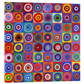 Acrylglas print  Square of circles according to Kandinsky - David Newton