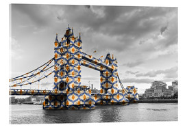 Acrylglas print  Tower Bridge Colour Pop