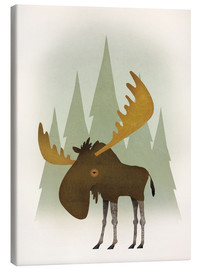 Canvas print  Forest moose - Ryan Fowler