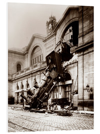 PVC print  Train accident at the Montparnasse station, Paris - John Parrot