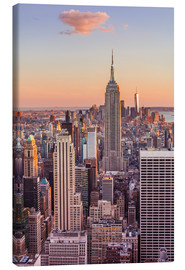 Canvas print  Manhattan skyline, Empire State Building, sunset - Neale Clarke