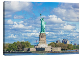 Canvas print  The Statue of Liberty on a cloudy day - Neale Clarke