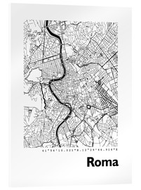 Acrylglas print  Map of Rome - 44spaces