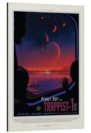Aluminium print  Retro Space Travel ? Trappist-1e