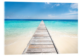 Acrylglas print  Jetty on a lonely island in the Maldives - Jan Christopher Becke