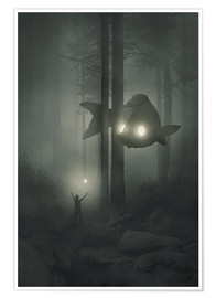 Premium poster Deep forest