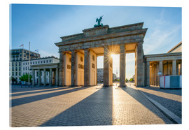 Acrylglas print  The Brandenburg Gate in Berlin - Jan Christopher Becke