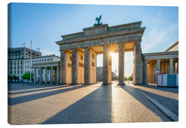 Canvas print  The Brandenburg Gate in Berlin - Jan Christopher Becke