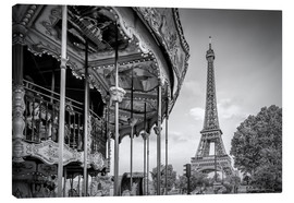 Canvas print  Typical Paris - Melanie Viola