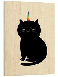 Hout print  Caticorn - Andy Westface