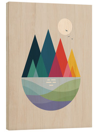 Hout print  Somewhere - Andy Westface
