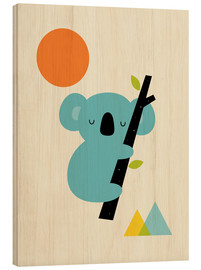 Hout print  Little dreamer - Andy Westface