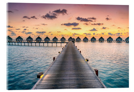 Acrylglas print  Romantic sunset in the Maldives - Jan Christopher Becke