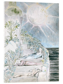 Acrylglas print  Dante and Statius sleep - William Blake