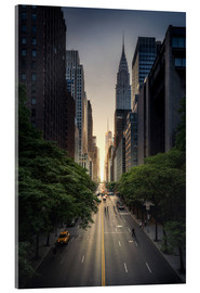Acrylglas print  New York City Sunset - Dennis Fischer