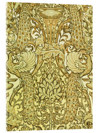 Acrylglas print  Golden peacocks - Walter Crane