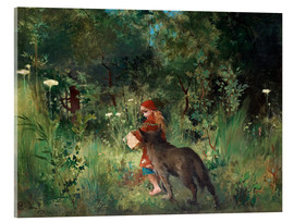 Acrylglas print  Little Red Riding Hood and the Wolf - Carl Larsson