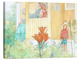 Canvas print  dressing up - Carl Larsson