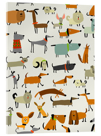 Acrylglas print  Dog breeds in all forms - Kidz Collection