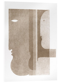 Acrylglas print  Two Profiles to the Left, One to the Right - Oskar Schlemmer