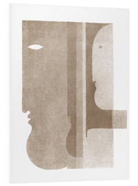 PVC print  Two Profiles to the Left, One to the Right - Oskar Schlemmer