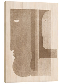Hout print  Two Profiles to the Left, One to the Right - Oskar Schlemmer