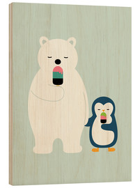 Hout print  Stay cool - Andy Westface