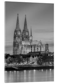 Acrylglas print  Cologne Cathedral black-and-white - Michael Valjak