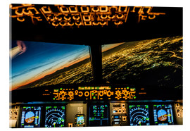 Acrylglas print  Airbus A320 Landing in Moscow, Russia - Ulrich Beinert