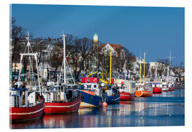 Acrylglas print  Fishing boats in Warnemuende, Germany - Rico Ködder