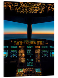 Acrylglas print  A320 cockpit at twilight - Ulrich Beinert