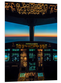 PVC print  A320 cockpit at twilight - Ulrich Beinert