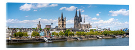 Acrylglas print  Cologne Rheinufer with cathedral and town hall - Jan Christopher Becke