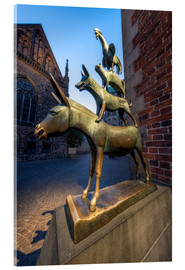 Acrylglas print  The statue of the Bremen Town Musicians - Jan Christopher Becke