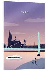 Acrylglas print  Cologne Illustration - Katinka Reinke