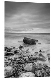 Acrylglas print  Granite in the Baltic Sea (long exposure) - Heiko Mundel