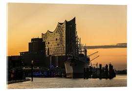 Acrylglas print  Morning mood at the Elbphilharmonie, Hamburg - Heiko Mundel